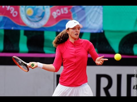 [HD] Iga Swiatek vs Amanda Anisimova Junior Fed Cup 2016 Finals Highlights