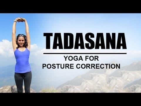 tadasana  yoga for posture correction  youtube