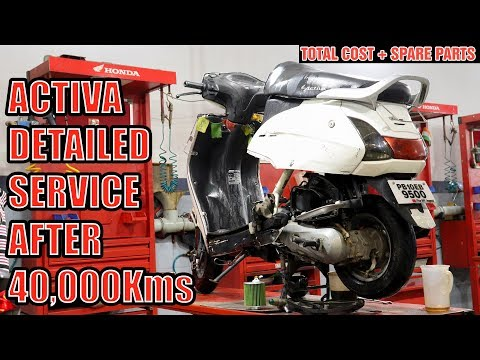 Honda Activa Servicing   Paid Service₹₹   Detailed Video