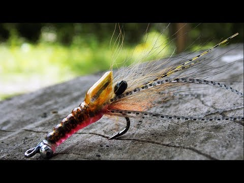 Easy saltwater shrimp fly tying instructions by Ruben Martin