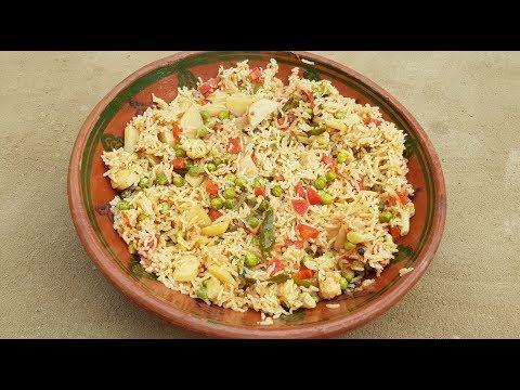 Vegetable Pulao Recipe | Mix Vegetable Pulao Recipe by Mubashir Saddique | Village Food Secrets