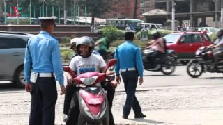 Traffic Check at Maitighar , Kathmandu | Medianp.com