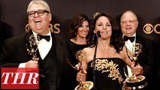 'Veep' Julia Louis-Dreyfus & More Post Emmy Win Press Room Q&A | THR
