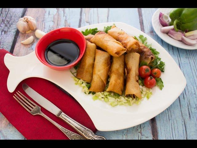 سنجاري - الجزء الأول - اسبرنج روول بالخضروات والجمبرى و سلطة التونة بالحرنكش