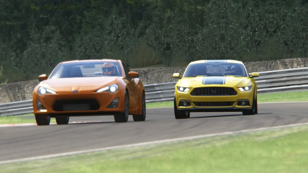 Battle ford mustang vs toyota gt86 racing at brands hatch