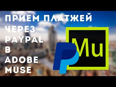 Прием платежей через PayPal в Adobe Muse