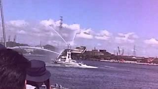 2012/7/16 姫路港にて 海上保安庁「ぬのびき」放水展示