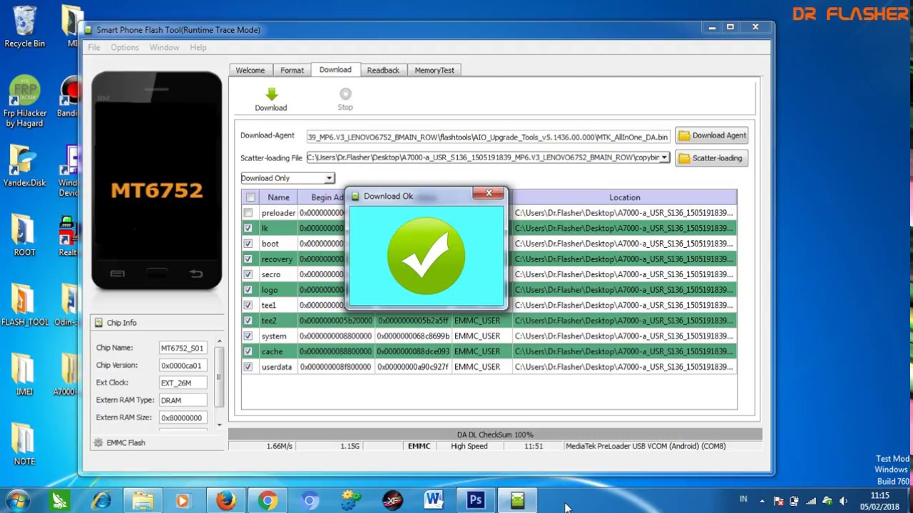 Fix IMEI & Unknow Baseband Lenovo A7000a by Dr Flasher