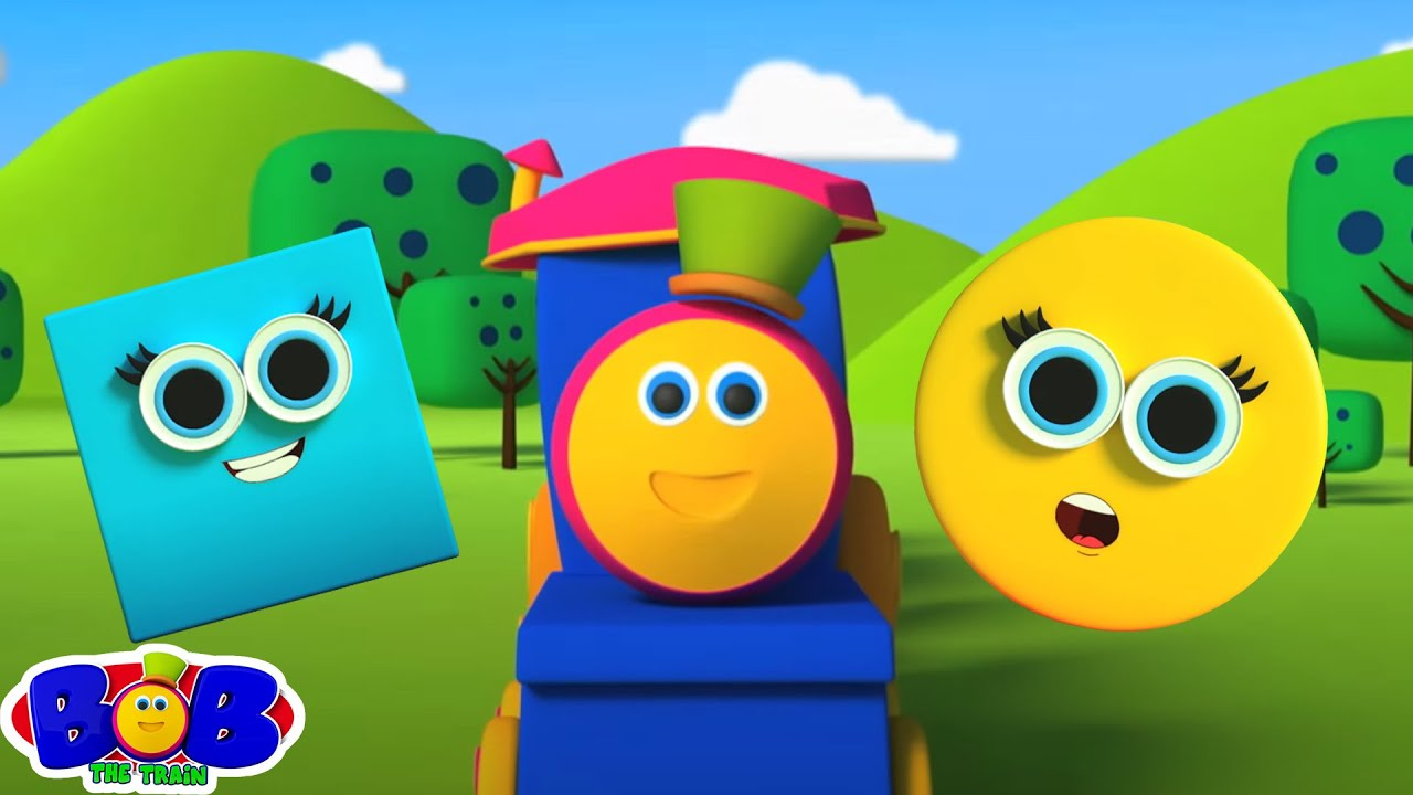 Learn Shapes with Bob The Train | Shapes Song | Preschool Videos For Children | Songs for Kids