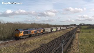 Midland Mainline Near Irchester and Wellingborough Station 16.02.2018