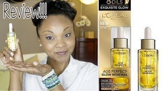 ?REVIEW: L'Oreal Age Perfect Hydra-Nutrition Facial Oil?