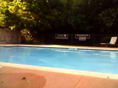 kicking tennis ball pool