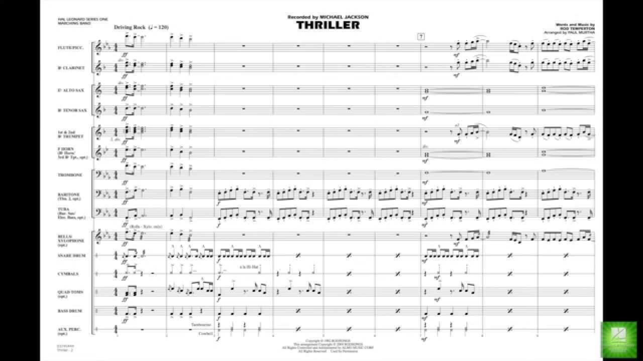 Thriller by Rod Temperton/arr  Paul Murtha