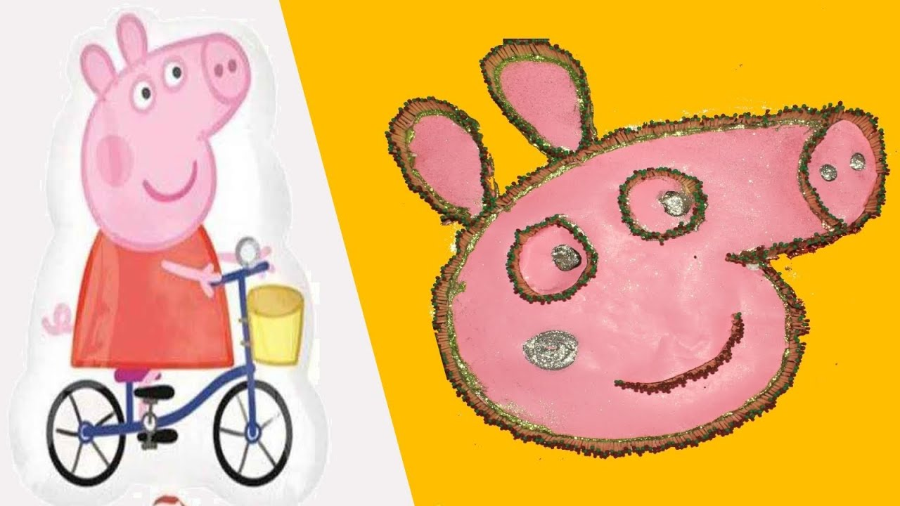 Peppa Pig creative Art- Totally unique way of doing it - Peppa Pig ...
