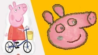 Peppa Pig creative Art- Totally unique way of doing it - Peppa Pig
