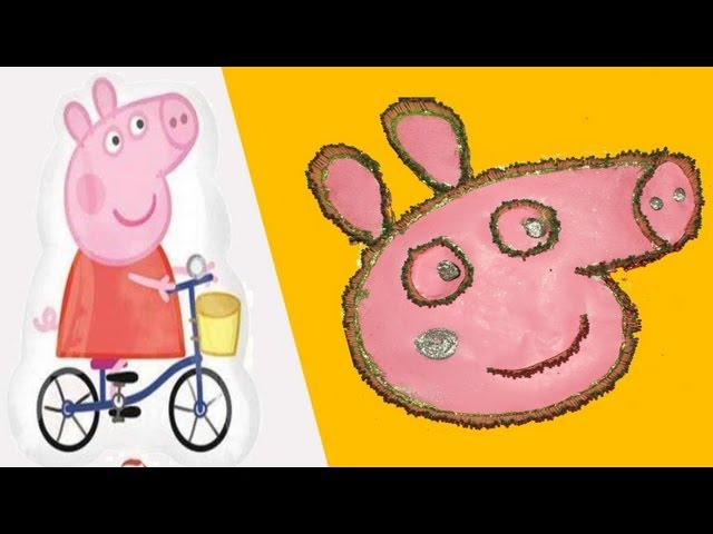 Peppa Pig creative Art- Totally unique way of doing it - Peppa Pig Travel Video