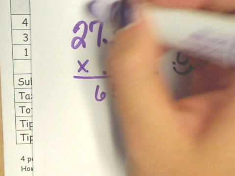 Tax and Tip with Menu Math