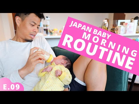 Newborn Baby's Morning Routine in Japan Ep.09
