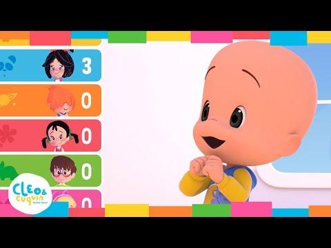 Cleo & Cuquín - CINCO MONITOS | Canciones infantiles de la Familia Telerín para Niños