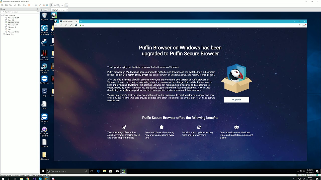 Puffin Secure Browser, cracked 2019