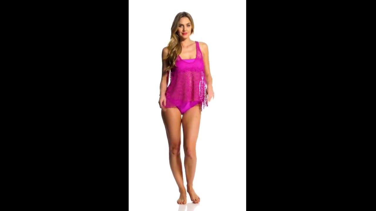 4706be222aba0 Ella Moss Stella Solid Tunnel Tie Side Bikini Bottom | SwimOutlet.com