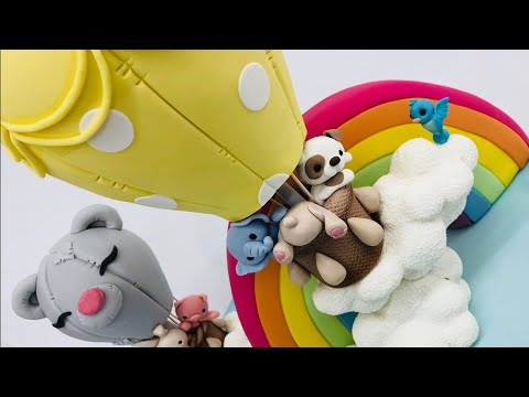 Hot air balloon cake birthday cakes tutorial