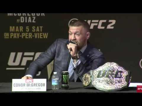 Conor McGregor calls bull on reporter's haircut theory