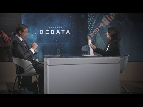 Insajder debata: Sa Aleksandrom Vucicem razgovarala Brankica Stankovic