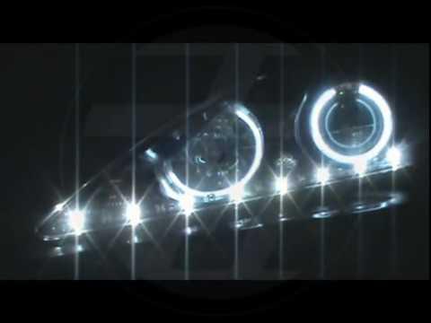 FOR 2011-2013 KIA SORENTO CHROME DUAL CCFL PROJECTOR HEADLIGHTS w// LED