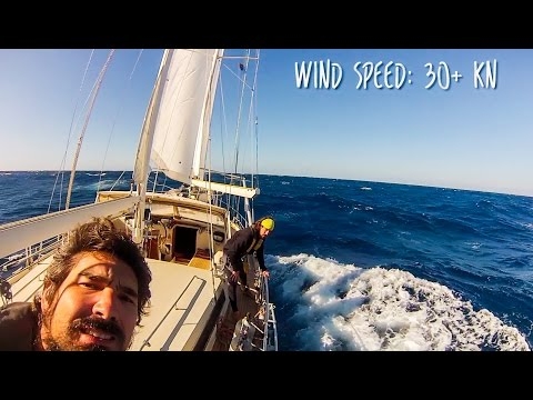 Sailing at 18 KNOTS down the WILD COAST of South Africa! SV
