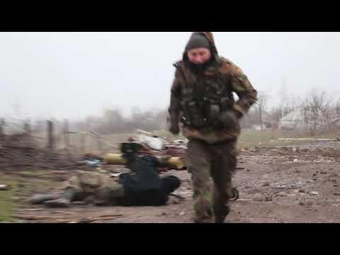 Пески. Апрель15-го. Бойцы ОУНа обстреливают позиции сепаров на Жабе(Жабуньках)
