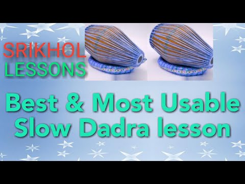 How to Play Slow Dadra Taal Lesson#1 on Sri khol/khol easily step by step Lesson || by Sanatan Dharm