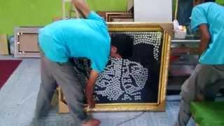A1  Bandung Project Proses Finishing dan Pengemasan produk mahar pernikahan mozaik Lukisan Wajah