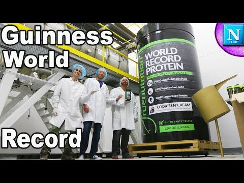 Guinness World Record: Largest Protein Container EVER