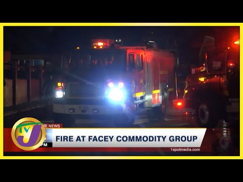 Fire at Facey Commodity Group | TVJ News - Oct 10 2021
