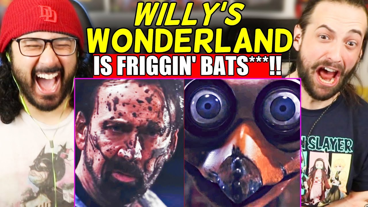 Holy Friggin' Crap... WILLY'S WONDERLAND - TRAILER REACTION!! (Nicolas Cage | FNAF)