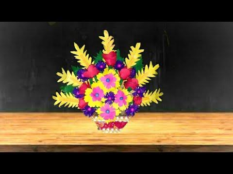 Room decoration idea /Make a paper flower bouquet /DIY Bouquet