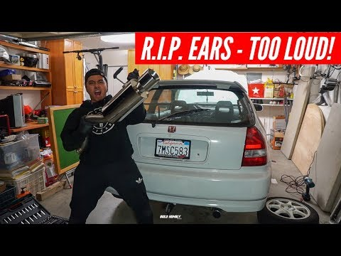 I ACCIDENTALLY Bought the LOUDEST EBAY Exhaust for the EK CIVIC!