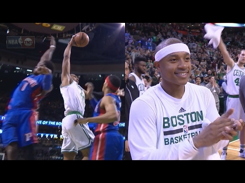 Isaiah Thomas 41 Pts! 24 in 4th Quarter! Al Horford Poster! Pistons vs Celtics