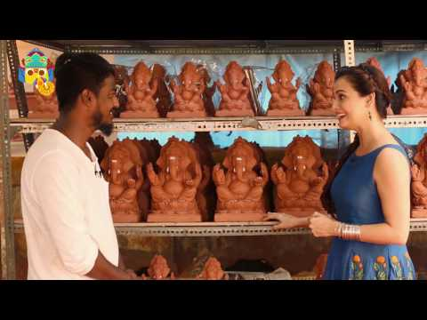 The Quint: Dia Mirza Shows You How To Make An Eco-Friendly Ganesha