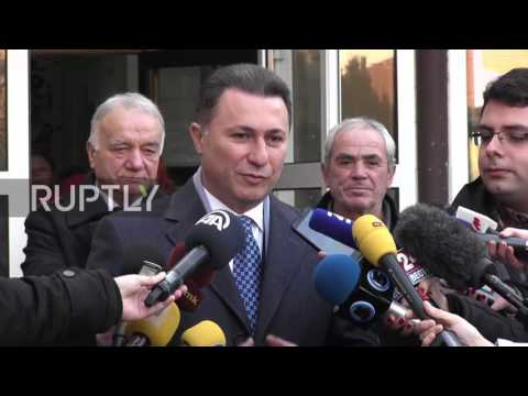 Macedonia: Former PM Gruevski casts ballot in parliamentary elections