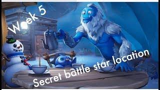 SECRET BATTLE STAR WEEK 5 SEASON 7 LOCATION!! (Fortnite battle Royale