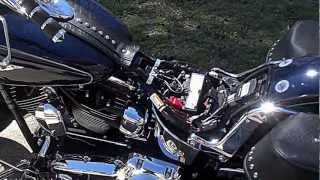 Marty cleaning his 2013 Harley Heritage Softail Classic