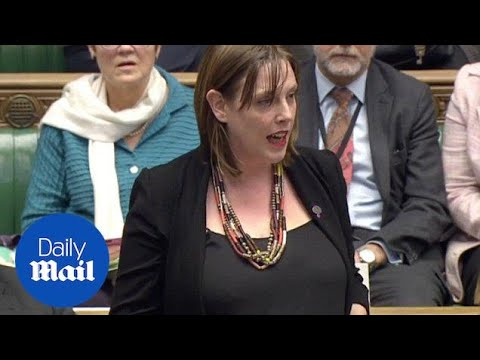 Commons silenced as Jess Phillips reads names of abuse victims - Daily Mail