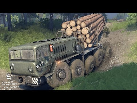 Spin Tires - Off-Road Simulator (Full Release) - E11 - Big Truck. Big Trailer. Small Roads