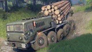 Spin Tires - Off-Road Simulator (Full Release) - E11 - Big Truck. Big Trailer. Small Roads