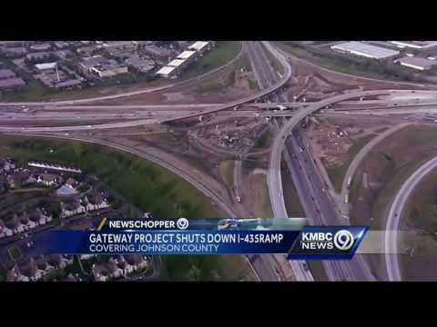 Westbound I-435 ramp to NB I-35 closed for construction