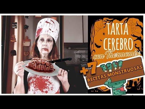 Tarta Cerebro para Halloween por Thermomíxate