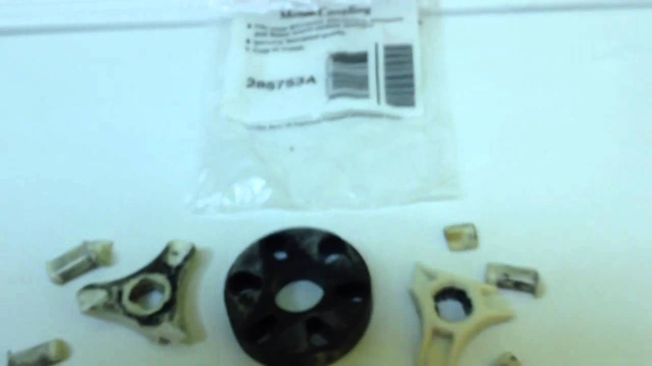 Motor coupling repair on a kenmore washing machine part 1 for Washing machine motor coupler replacement