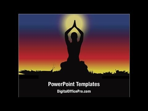 Meditation Yoga PowerPoint Template Backgrounds
